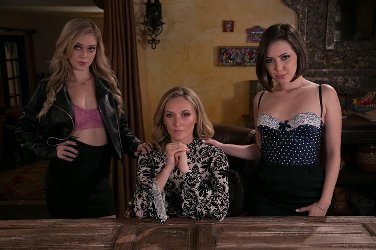 Jenna Sativa, Mona Wales, Kali Roses ~ The Family Business ~ MommysGirl/GirlsWay ~ FullHD 1080p