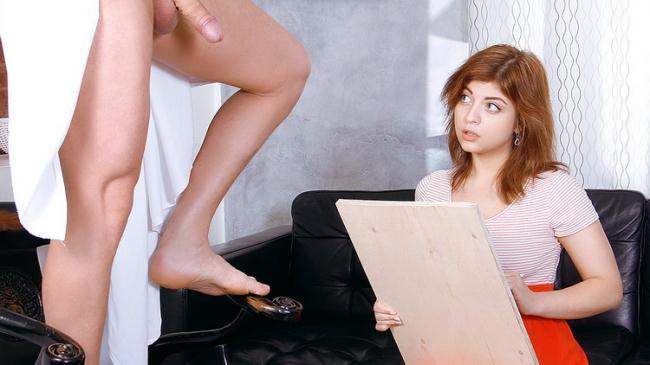 Rebecca Rainbow - Ginger cutie plays with male tool (2021 FuckStudies.com TeenMegaWorld.net) [FullHD   1080p  2.18 Gb]