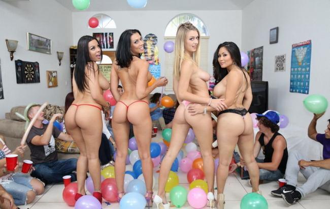 Rachel Starr, Jessica Bangkok, Luna Star, Natalia Starr - Fucking Porn-Stars At A Dorm Party [DormInvasion.com / BangBros.com / HD 720p]