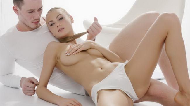 TheWhiteBoxxx.com PornDoePremium.com: Sensual Ukrainian blondie Nancy A eats cum in hot glamcore fuck Starring: Nancy A