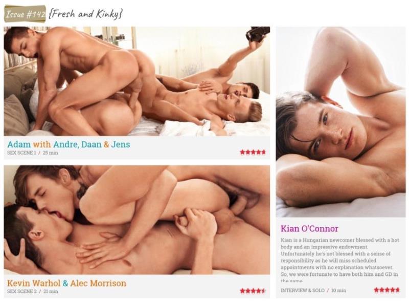 FreshMen.net: Adam Archuleta, Andre Boleyn, Daan Jeffries, Jens Christensen, Kevin Warhol, Alec Morrison, Kian OConnor - Issue #142 {Fresh and Kinky} [HD 810p] (3.19 Gb)