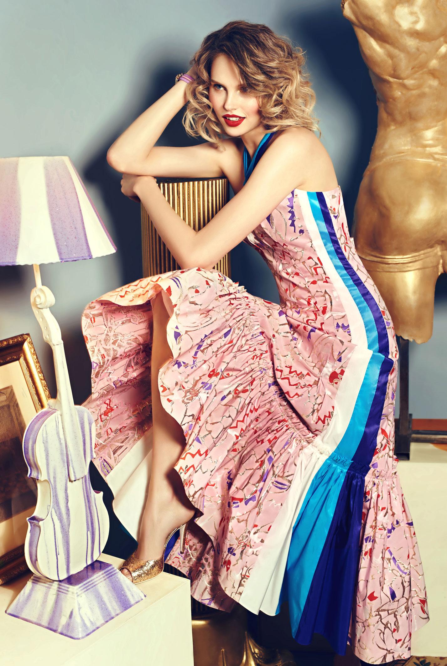Антонина Ермолина в рекламной кампании модного бренда Au Pont Rouge, весна-лето 2017 / фото 02