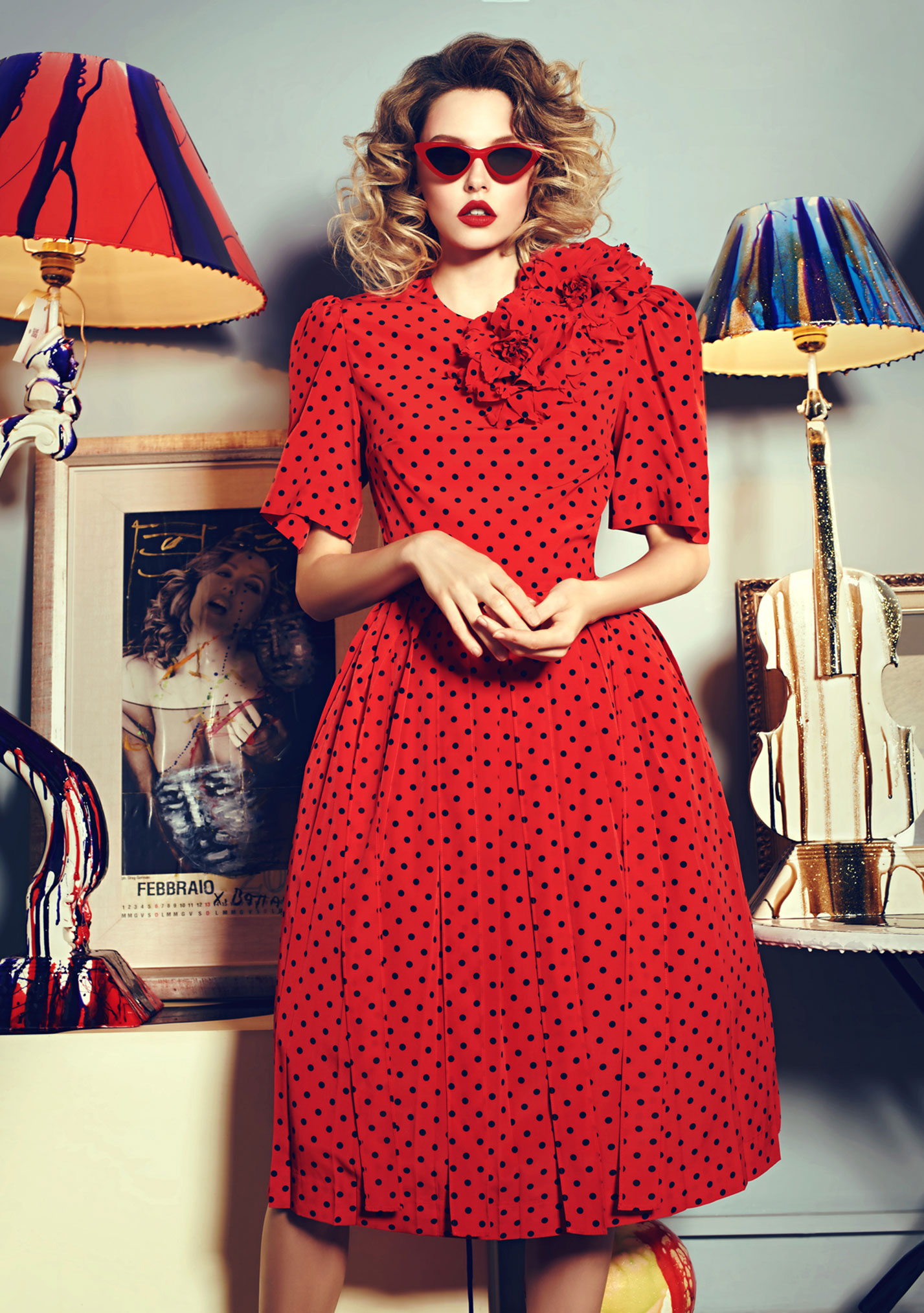 Антонина Ермолина в рекламной кампании модного бренда Au Pont Rouge, весна-лето 2017 / фото 05