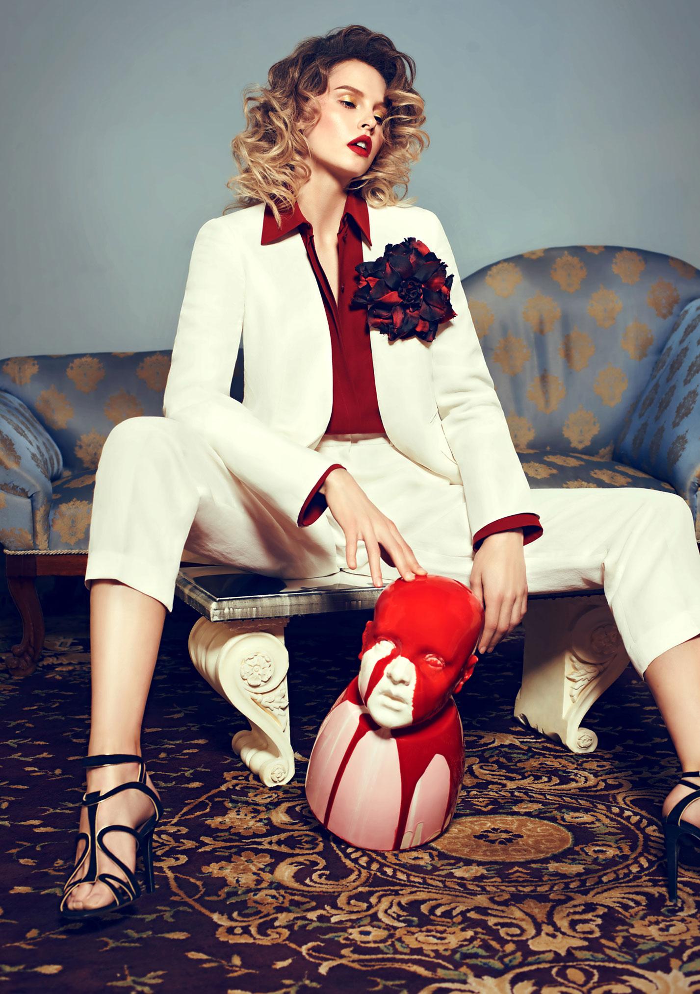 Антонина Ермолина в рекламной кампании модного бренда Au Pont Rouge, весна-лето 2017 / фото 07