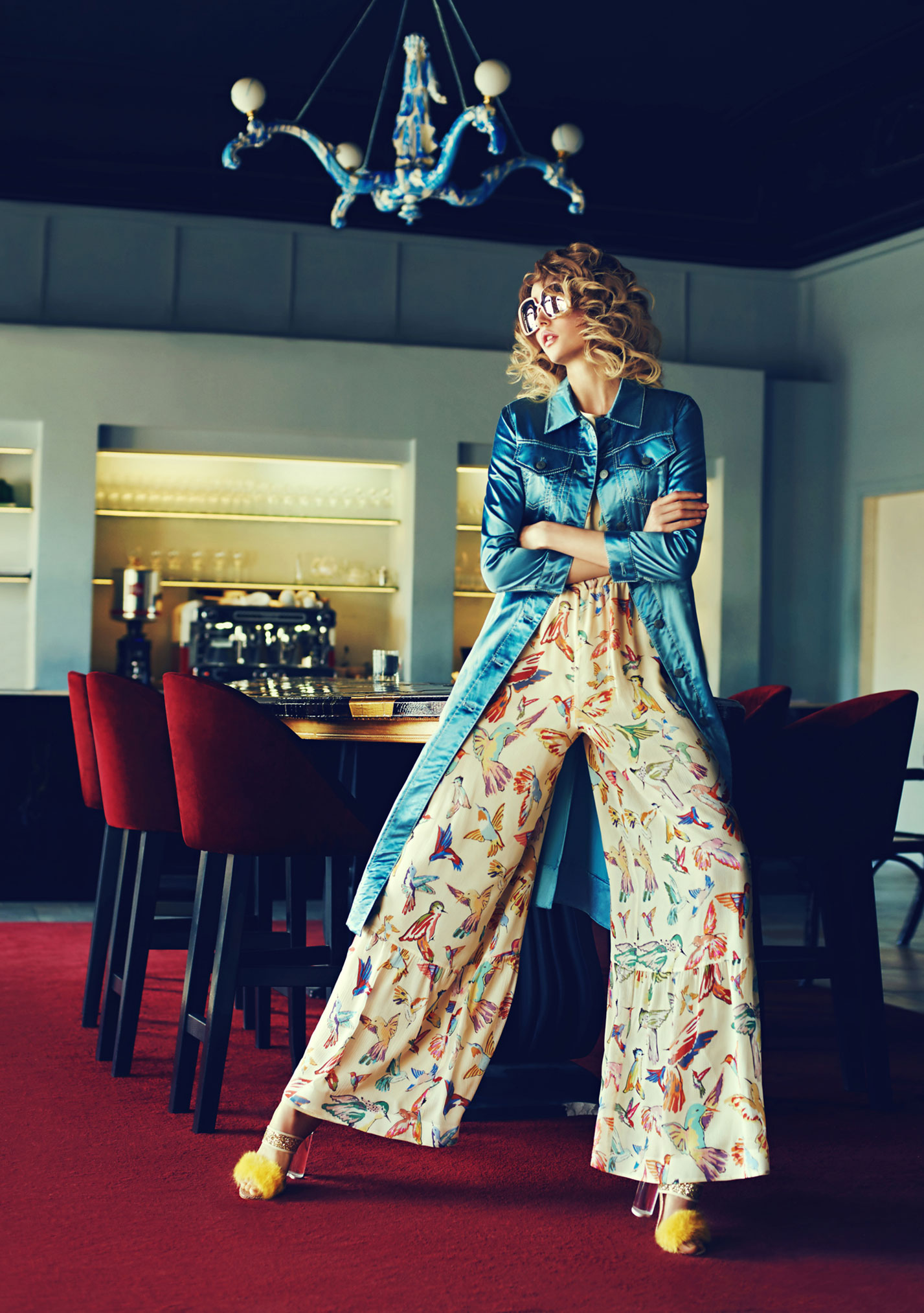 Антонина Ермолина в рекламной кампании модного бренда Au Pont Rouge, весна-лето 2017 / фото 09