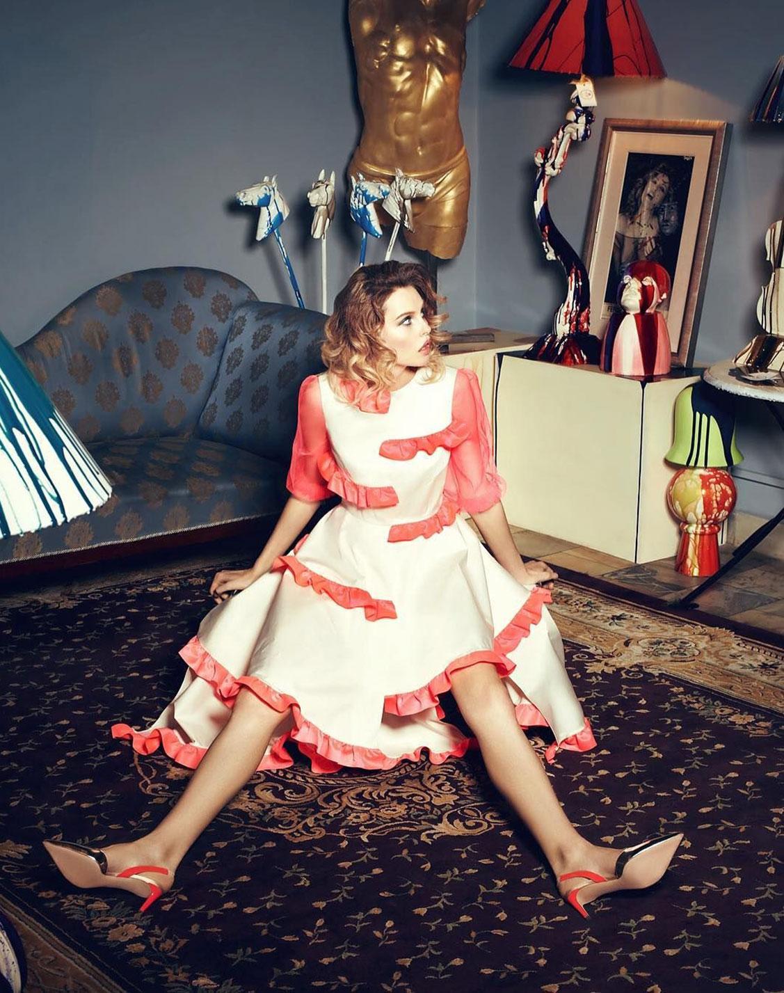 Антонина Ермолина в рекламной кампании модного бренда Au Pont Rouge, весна-лето 2017 / фото 11